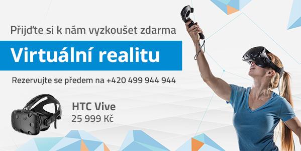 Přijďte si k nám vyzkoušet zdarma Virtuální realitu.
